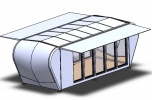 Projekt innowacyjny mini-hotelu /domku mobilnego całorocznego rozkładanego
