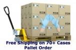 Rękawice nitrylowe Pallet Load niebieskie bezpudrowe